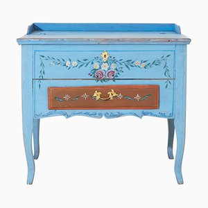Antique Swedish Gustavian Blue Writing Desk