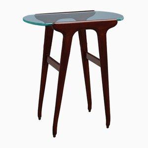 Table Basse en Acajou et Verre par Cesare Lacca, 1950s