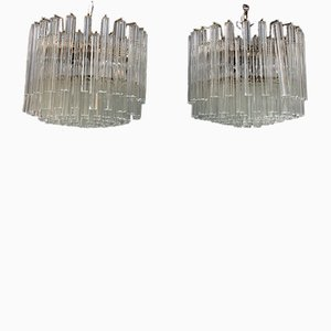 Quadrifoglio Ceiling Lamps from Venini, 1960s, Set of 2