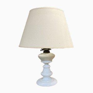 Late-19th Century Napoleon III White Opaline Table Lamp