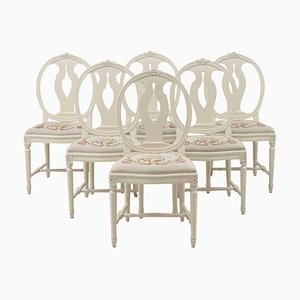 Rose Bud Dining Chairs, 1920s, Set of 6
