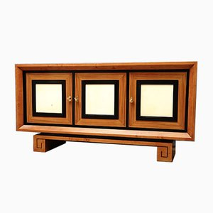 Italian Art Deco Satinwood and Goatskin Sideboard, 1930s