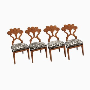Austrian Biedermeier Dining Chairs, 1840s, Set of 4