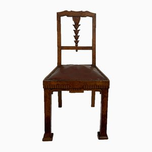 Carved and Veneered Dining Chairs, 1930s, Set of 6
