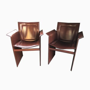 Lounge Chairs by Tito Agnoli for Matteo Grassi, 1970s, Set of 2