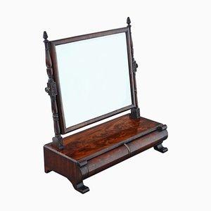 Georgian Regency Mahogany Dressing Table Swing Toilet Mirror, 1825