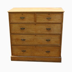 Antique Ash Chest of Drawers 2 over 3, 1900s