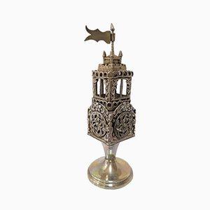 Antique Jewish Silver Spice Rack