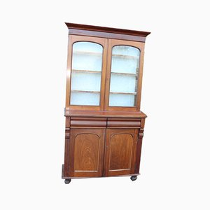Antique Solid Mahogany Chiffonier Bookcase, 1900s