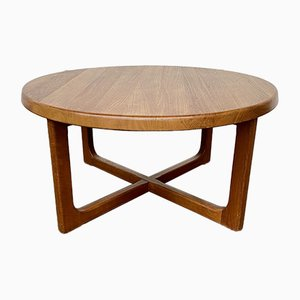 Mid-Century Teak Round Coffee Table by Niels Bach for Randers Møbelfabrik, 1960s