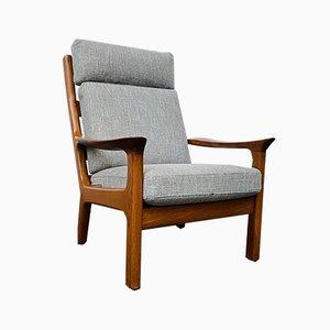 Mid-Century Danish Teak High Back Lounge Chair by Juul Kristensen for JK Denmark, 1960s