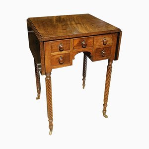 Small 5 Drawer Pembroke Table