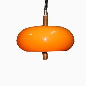 Vintage Orange Teak Model 335 Ceiling Lamp from Temde