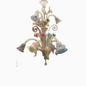 Large Venetian Murano Glass Chandelier