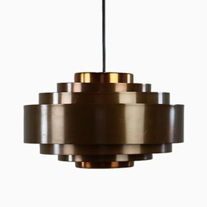 Danish Brass Pendant Lamp by Johannes Hammerborg for Fog & Mørup, 1960s