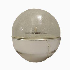 Italienische Silberglas Tischlampe, 1970er