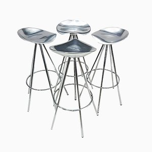 Chrome and Aluminum Stools by Pepe Cortés for Amat-3 for Knoll, 1990s, Set of 4