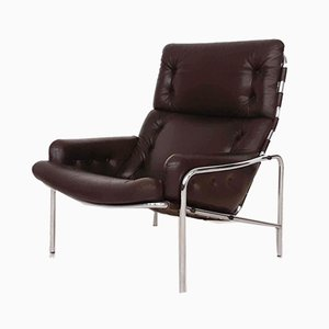 Brown Leather SZ09 Nagoya Chair by Martin Visser for 't Spectrum, 1969