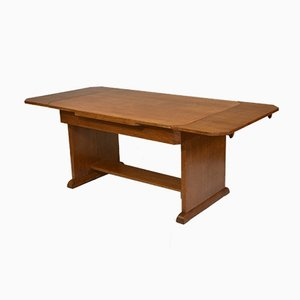 Art Deco Oak Extendable Dining Table, 1930s