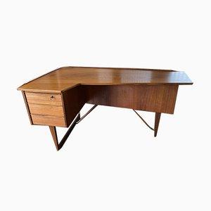 Vintage Scandinavian Danish Boomerang Teak Desk by Peter Løvig Nielsen, 1950s