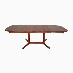 Extendible Solid Teak Dining Table from Dyrlund, 1960s