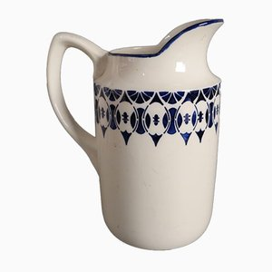Antique Art Nouveau Ceramic Water Pitcher from Annaburg, 1900s