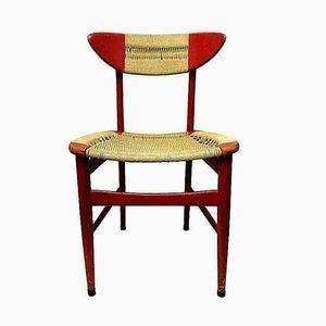 Esszimmerstuhl aus Holz & geflochtenem Seil von Hans Wegner, 1950er