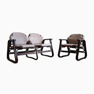 Dänisches Mid-Century 2-Sitzer Sofa & Sessel, 2er Set