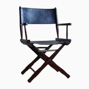 Palisander Vintage Safari Director's Chair von M. Hayat & Bros, 1970er