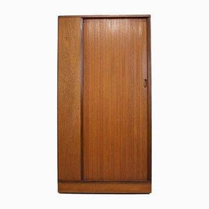 Teak Tambour Door Wardrobe from Austinsuite, 1960s