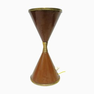 Lampada da tavolo clessidra di Angelo Lelli per Arredoluce, anni '50