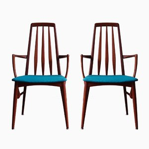 Mid-Century EVA Dining Chairs by Niels Koefoed for Koefoeds Hornslet, 1960s, Set of 2