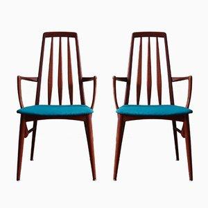 Mid-Century EVA Esszimmerstühle von Niels Koefoed für Koefoeds Hornslet, 1960er, 2er Set