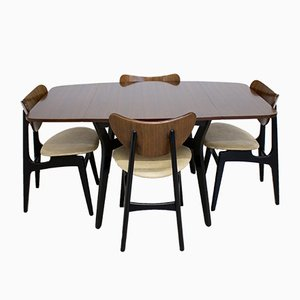 Mid-Century Tola Drop Leaf Dining Table and Butterfly Chairs Set from G-Plan, 1960s