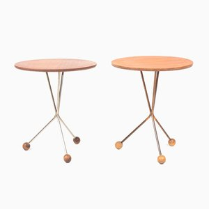 Teak Side Tables by Albert Larsson for Alberts Tibro, 1960s, Set of 2