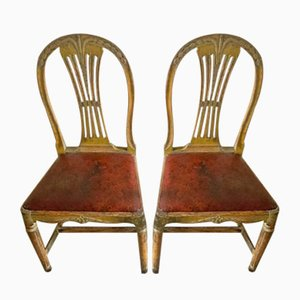 Antique Gustavian Dining Chairs, 1800s, Set of 2