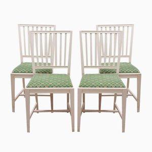 Swedish Leksand Dining Chairs, 1980s, Set of 4