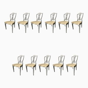 English Dining Chairs, 1920s, Set of 11