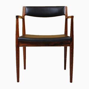 Danish Rosewood Desk Chair by H. W. Klein for Bramin, 1960s
