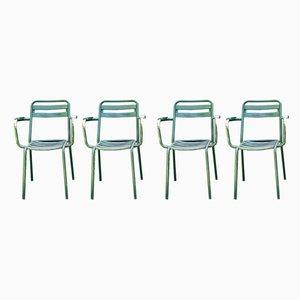 Chaises de Jardin T2 de Tolix, 1950s, Set de 4