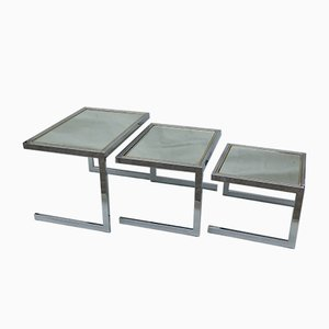 Cigogne Nesting Tables, 1970s, Set of 3