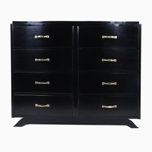 Art Deco Commode in Black Ebonised Lacquer