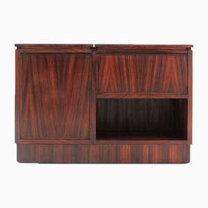 Mid-Century Rosewood Trolley Coffee Table with Bar from Luigi Sormani, 1960s