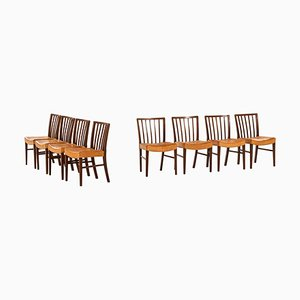 Danish Dining Chairs by Frits Henningsen, 1940s, Set of 8