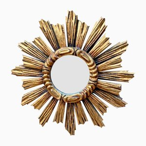 Sun Mirror in Gilded Wood, 1960s