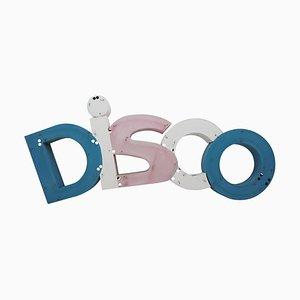 Large Industrial Metal Disco Letter Sign, 1960s
