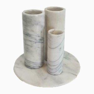 Vintage Carrara Marble Vases Set, 1970s