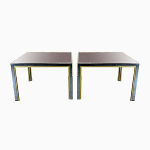 Chrome & Brass Coffee Tables from Willy Rizzo, 1960s, Set of 2