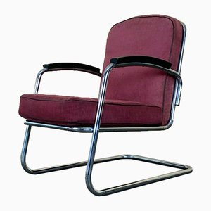 Bauhaus Tubular Steel Cantilever Chair, 1940s