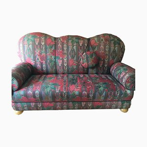 Antique Handmade Sofa with Foldable Side Elements